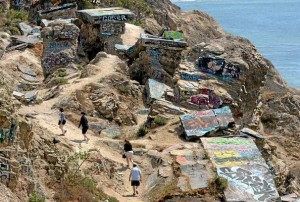 Hikers explore Sunken City